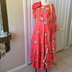 Anarkali Gown Dress XXL 44 Salwar Kameez Sari